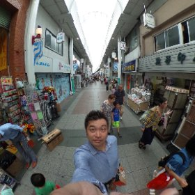 博多川端商店街 #theta360
