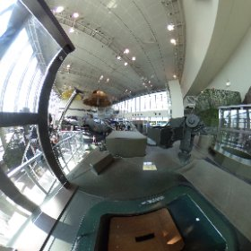 ガルパンの西住どの視点で、りっくんランドの90式戦車の上部からTHETAで撮影してみた。ちょっと微妙な絵?パンツァーフォー失敗~。 #theta360
