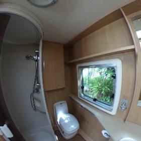 Abbey GTS 215 2007 360 degree bathroom area https://www.pirancaravansales.co.uk/128-abbey-gts-215