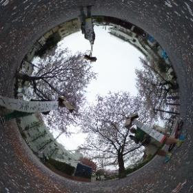 360°カメラゲット記念に実験。 3人で囲んでくすだま開いてみました。 #theta360