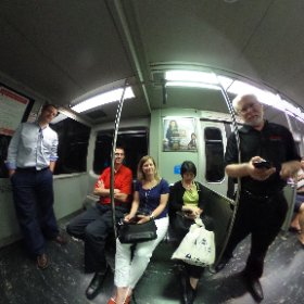 On the T in Boston. #theta360