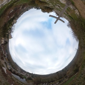 Angles-sur-l'Anglin, earlier today #theta360