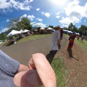 Another 360° photo at farmers Market.  With Geri Good Murphy. #theta360