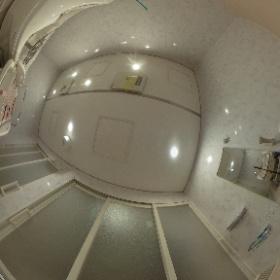 大阪府堺市に設置した特注介護ユニット4325。入り口2箇所3枚引き戸仕様。 #theta360