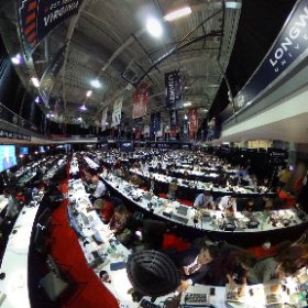 360 view of reporters watching the #vpdebate from the spin room at @longwoodu