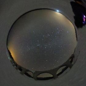 タウシュベツ川橋梁で見た星空 #theta360