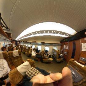 小倉で新幹線乗車~。 #theta360