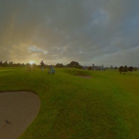 Back home to Galway enjoying one of the most amazing sunsets @glenloabbey golf course #craicingalway #rain3d #theta360