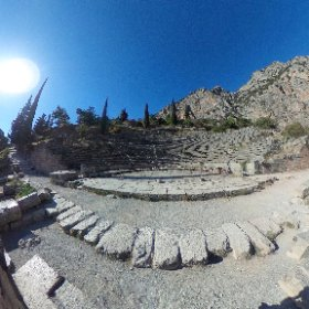 Ancient amphitheater in #Delphi #Greece #theta360