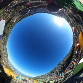 紅葉の木曽駒ケ岳 頂上テント場 中岳と木曽駒ケ岳の中間点 #theta360