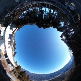 身延山 ロープウェイ乗り場からの富士山 撮影日2020年1月9日