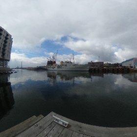 Kongeskipet Norge, ved Aker Brygge. #theta360