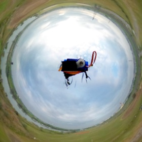 THETA 360 on the air by my quad copter this morning - 2D