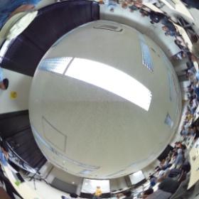 電塾、エルモのカメラで360度パノラマビデオの実演中(*^^*)