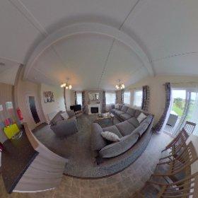 'Wensleydale'4 bed lodge, Wenningdale Escapes, Bentham,North Yorkshire. #theta360 #theta360uk