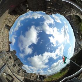 Oystermouth Castle - Mumbles #theta360 #theta360uk