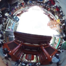 浅草の写真1 リコー シータの360度グルグル写真 #theta360