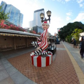 A cute statue in the Hong Kong Avenue of Comic Stars #theta360