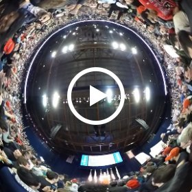 360 video of moment when Trump spokesman announced Trump was not coming to rally