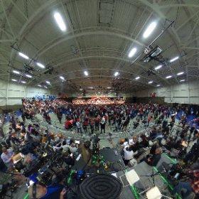 360 view of Donald Trump's rally in Warren, MI.