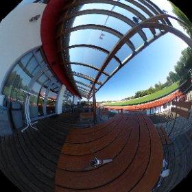 Sportheim Terrasse  #theta360