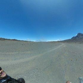 Below Kibo hut on Mt. Kilimanjaro #Climbforalbinism