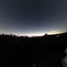 白金平展望台からの星空