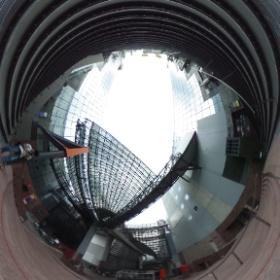 京都駅ビル3 #theta360