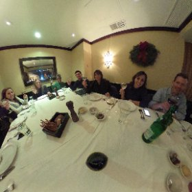 360 pic of the #TeamHallie holiday party at Becco