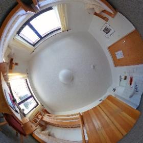 Eines unserer Vier-Bett-Zimmer unserer Herberge im Naturschutzzentrum Erzgebirge. #theta360de