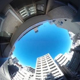 【ハイシティ文京】 ルーフバルコニー西向き眺望 360°画像 東京都文京区本郷3-23-10 http://www.axel-home.com/009706.html  #theta360