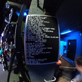 Set list backstage #FestivalPageant #theta360