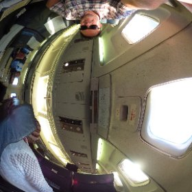 Air Zim may shake rattle and roll but at least there is loads of leg room!! #theta360
