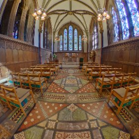 Another Chester Cathedral 360 pic. using HDR mode as only way to get dark interiors and bright stained glass windows decent.