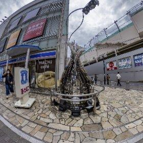 小田急線町田駅、メタルミョウガ #thetaz1 #theta360