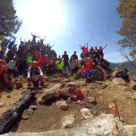 Top of the Mountain #theta360