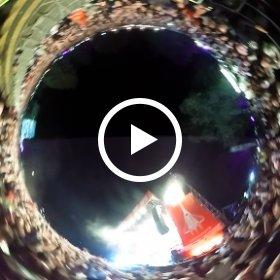 Kraftclub auf Kosmonaut festival #theta360