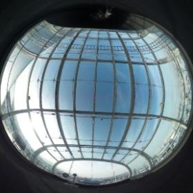札幌ドームの展望台。 #theta360