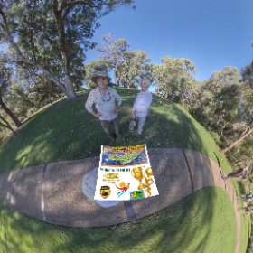 360 spherical Alan and Ruth from Sydney visiting Kings Park looking onto Pioneer Womans Fountain, Visitor page https://linkfox.io/mmZvb BEST HASHTAGS  #PioneerWomensFountainWA   #KingsParkWA   #Butterfly3d  #VisitPerthWA      #WaTourism #theta360