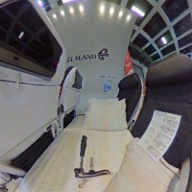 Air New Zealand SkyCouch #theta360