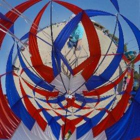 grand haven kite fest  2016 inside a kite #theta360