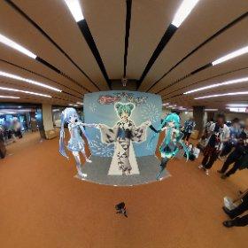 浴衣ミクさんと ライブおつかれさまでした。 来年も鼓童ライブあるといいな。 #kodomiku #miku360  #theta360