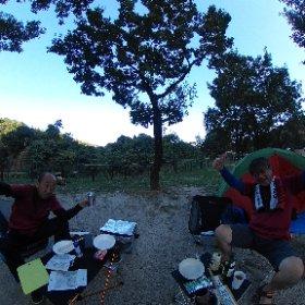 20.09.21~22 青川峡キャンプ場 #theta360