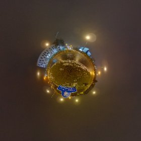 Skeerit Roundabout at night creating entry gate to Galway between GMIT and the growing  up building site of the Connacht Garda Quarter #skerritroundabout #gardasiochana #4March2018 #craicingalway #rain3d #galway360 #theta360