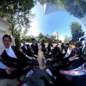 結婚式が終わって式場の出口でシータ^_^ #theta360