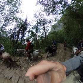 Horseback riding in Colombia.  #theta360