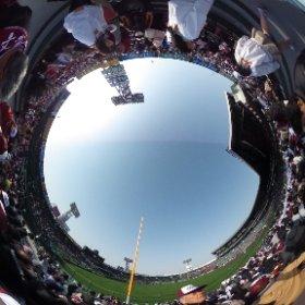 2015/3/22 甲子園球場三塁側アルプス 桐蔭vs今治西 #theta360
