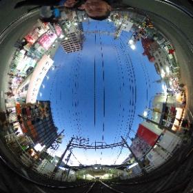 京成押上線上でパチリ #theta360