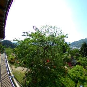青森県の大鰐町、茶臼山公園展望台より。 #theta360