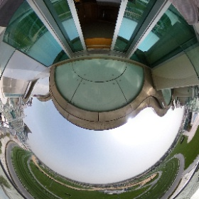 Hotel room balcony at The Meydan Hotel Dubai in 360° #visitDubai #theta360